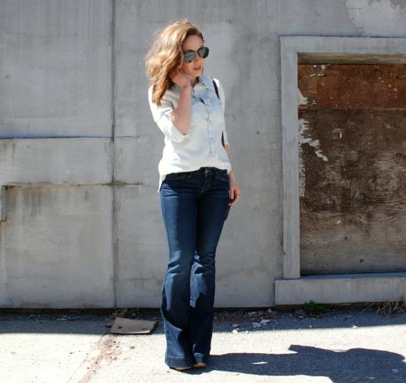 Denim Flares Style Blog Toronto Style Blogger Flares 8