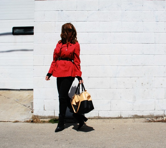 Toronto Style Blogger Red Trench Coat Style Blog 2