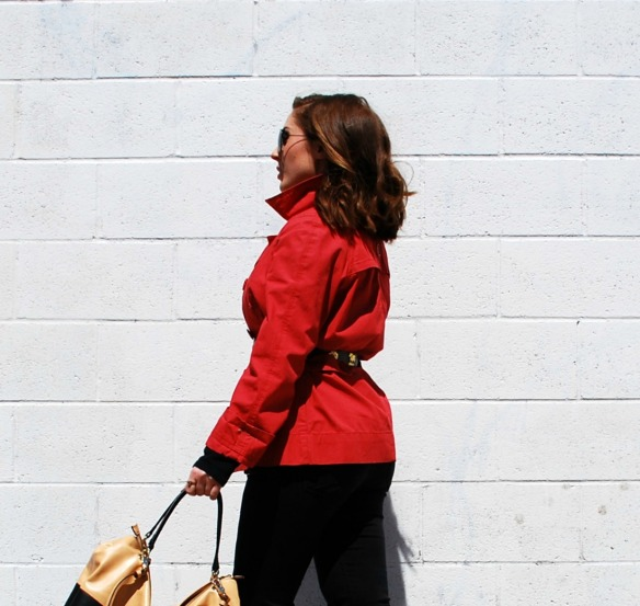 Toronto Style Blogger Red Trench Coat Style Blog 3