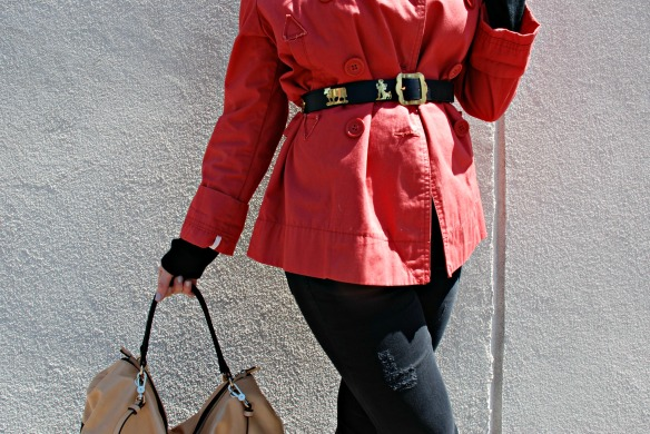 Toronto Style Blogger Red Trench Coat Style Blog 4