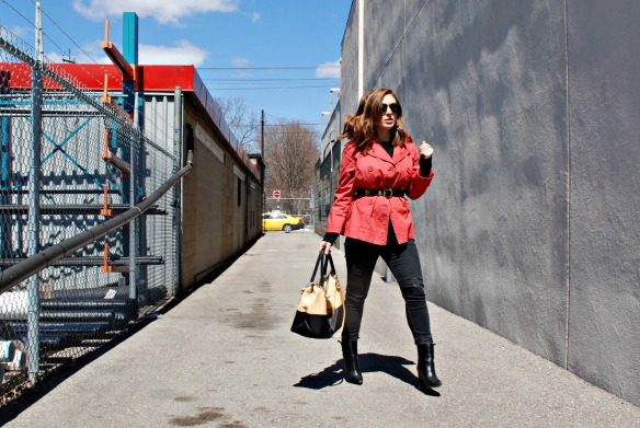 Toronto Style Blogger Red Trench Coat Style Blog 5