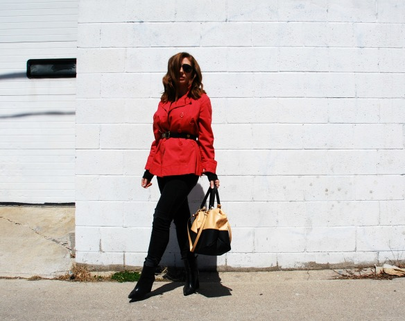 Toronto Style Blogger Red Trench Style Blog 1