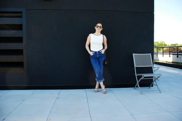 Vintage boyfriend jeans style blogger 5
