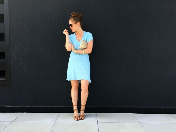toronto style blogger summer style blue sundress lace up sandals 5