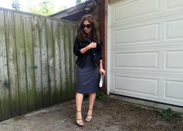 toronto style blogger summer style grey dress 6