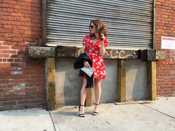 toronto style blogger summer style red sundress 5