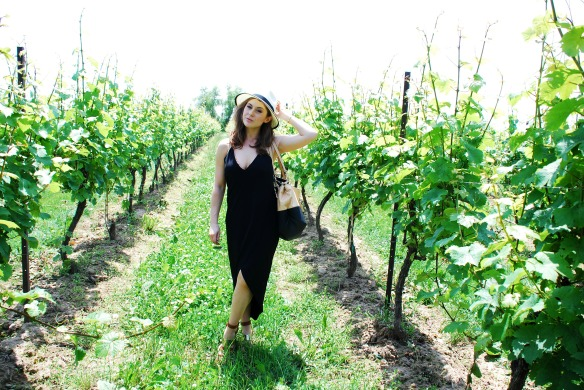 toronto style blogger wine tour little black dress 5