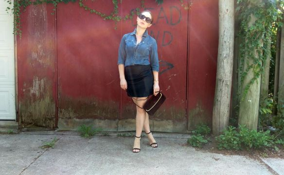 toronto style blogger ck chambray 12