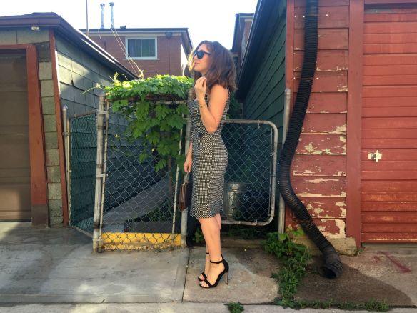 Toronto style blogger gingham dress summer style 9
