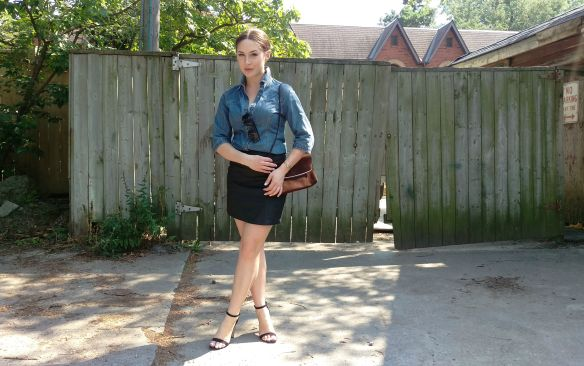 toronto style blogger vintage ck chambray fall style 1