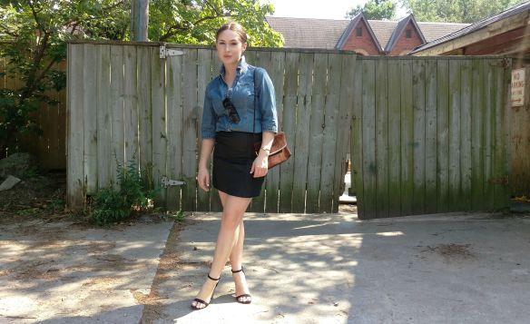 toronto style blogger vintage ck denim chambray 4