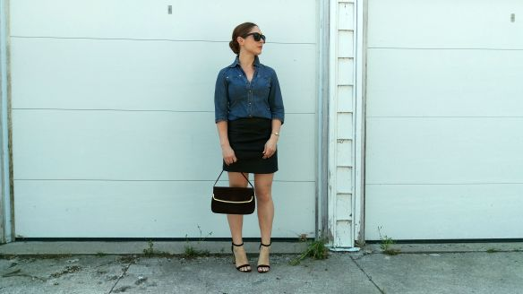 toronto style blogger vintage ck denim chambray 6
