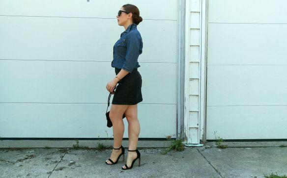 toronto style blogger vintage ck denim chambray 7