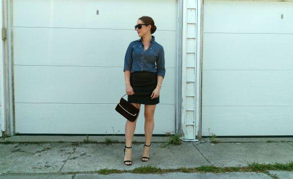 toronto style blogger vintage ck denim chambray 8