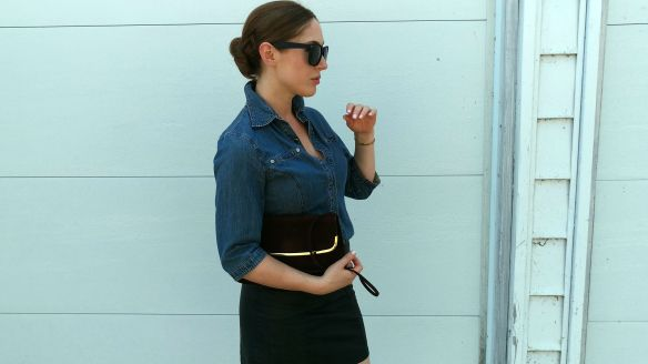 toronto style blogger vintage ck jeans chambray shirt 9